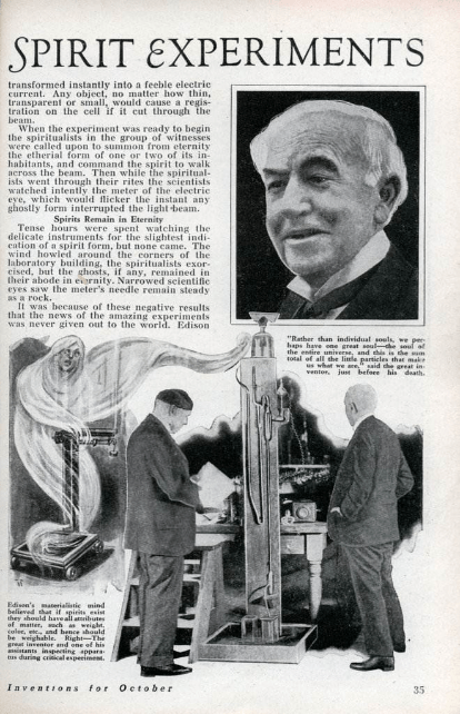 Thomas Edison's Secret Spirit Experiment