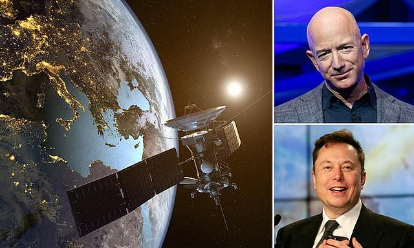 Amazon will send more than 3,200 Internet satellites into orbit to compete with Elon Musk