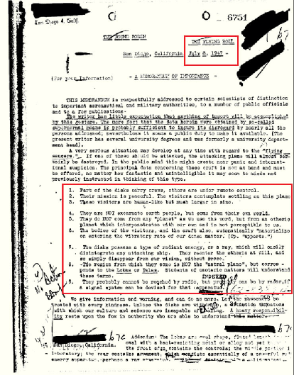 FBI Documents Confirm The Existence Of Giant Human Like Aliens In A Declassified Report From 1947