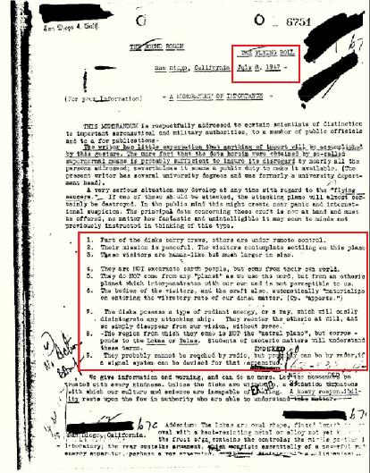 FBI-Dokumente bestätigen die Existenz von riesigen Menschen wie Außerirdischen in einem freigegebenen Bericht von 1947
