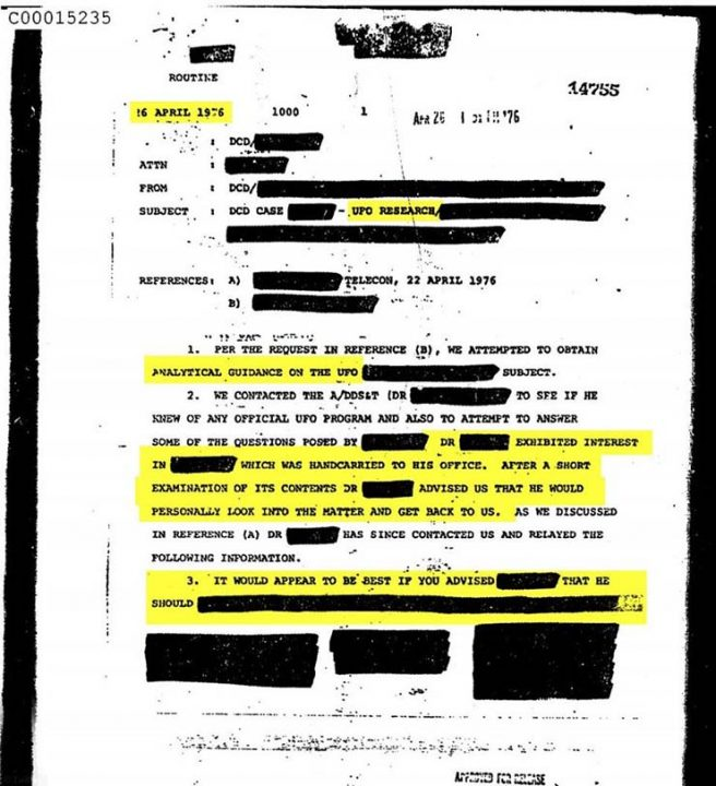 The Unexpected Declassification Of 3,000 Documents By The CIA On UFOs