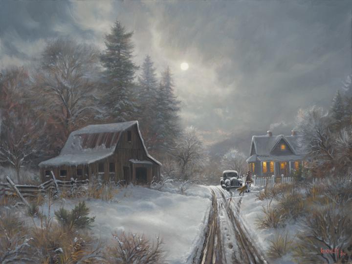 Winter Homeplace By Mark Keathley Infinity Fine Art