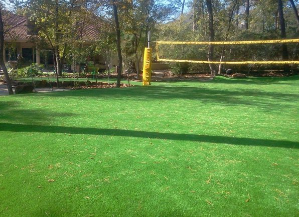 volleyball net court with artificial grass