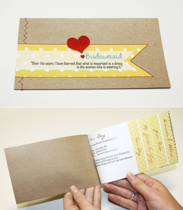 """""""Will you be my bridesmaid?"""" booklets"""