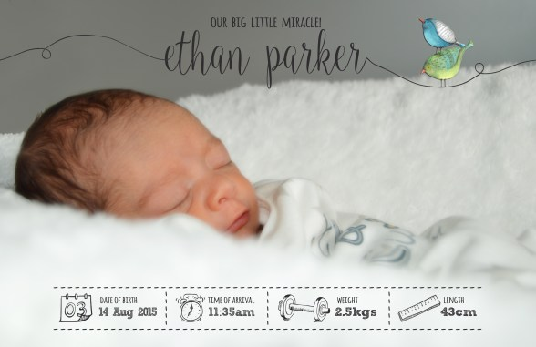 Baby Ethan - Birth Announcement