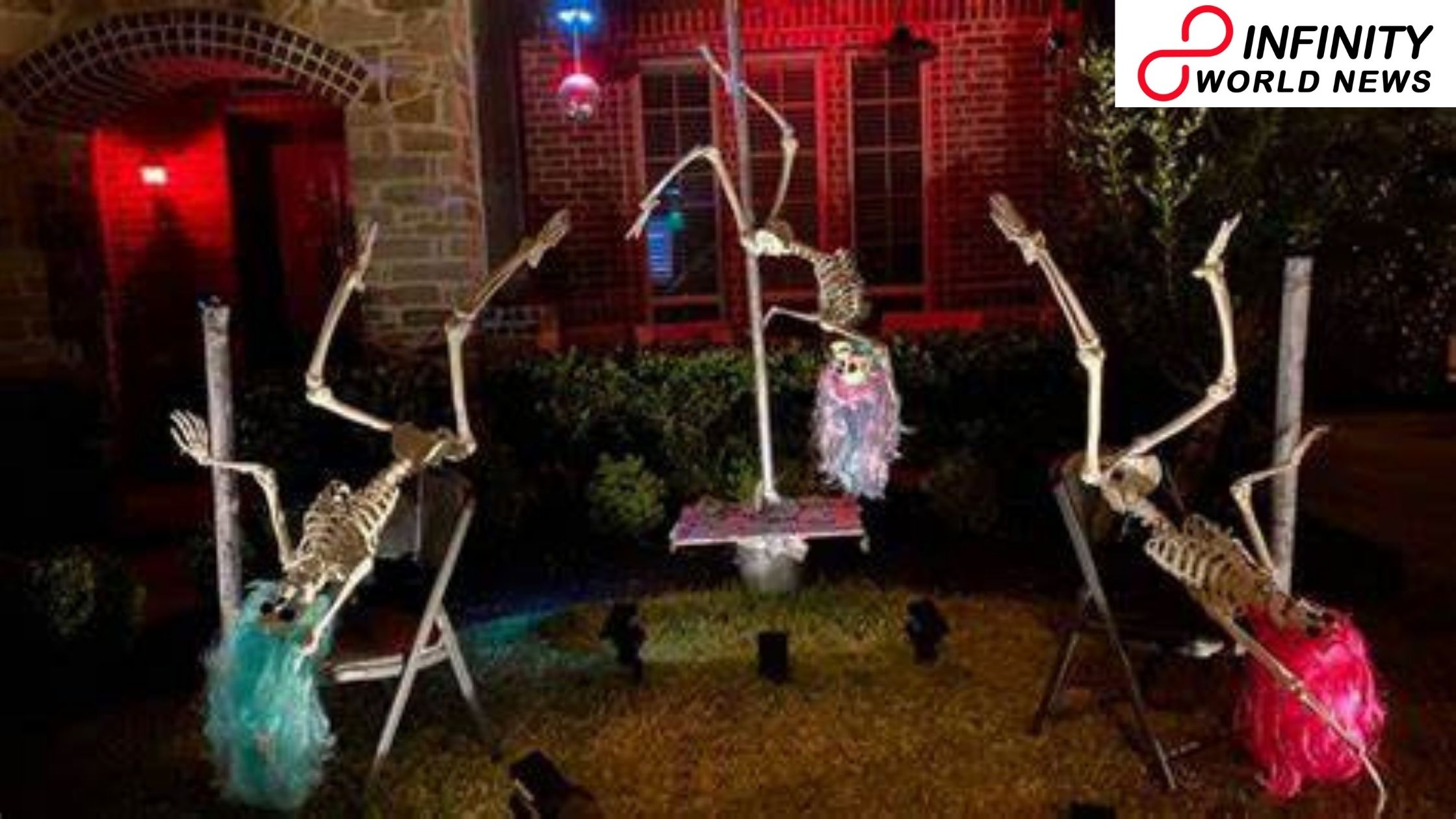 Lady Opens Halloween Strip Club with Skeletons Pole