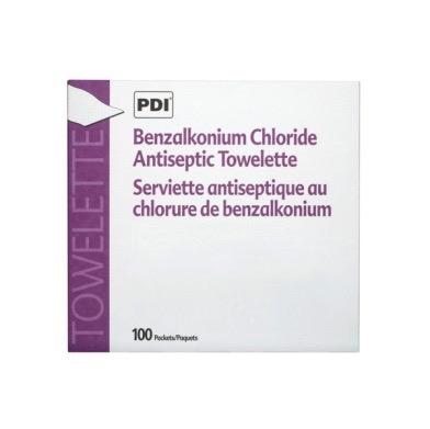Antiseptic Benzalkonium sachets