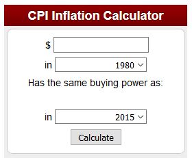 Inflation Calculators from InflationData.com