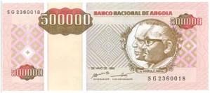 Angola – 500,000 kwanzas reajustados, 1995