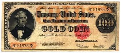 US Treasury Gold Certificate