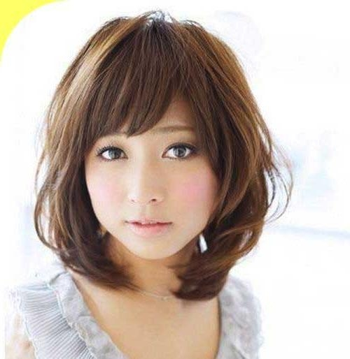 Korean Hairstyle For Round Face Female