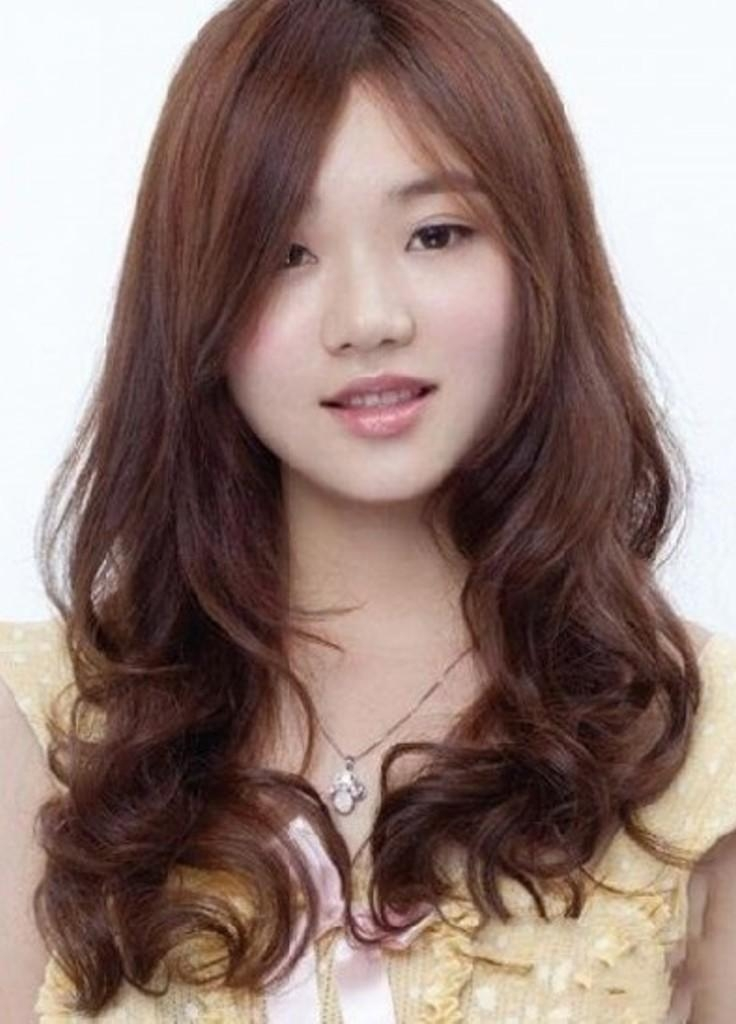 15 Collection Of Korean Women Hairstyle Round Face