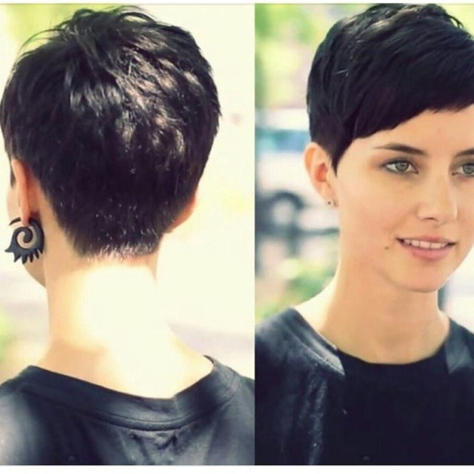 Pixie Haircut Front And Back View The Best Of 2018 Short Hairstyles Side