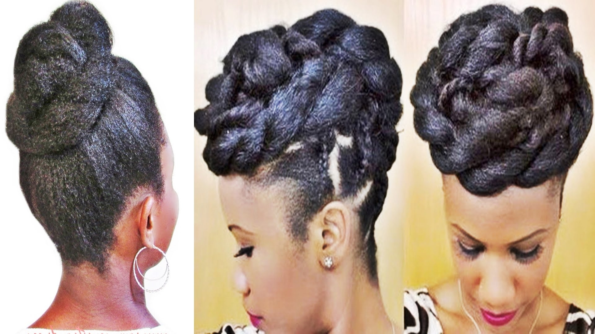 Braids And Twists Updo Hairstyle For Black Women – Youtube Throughout Cornrow Updo Hairstyles For Black Women (View 6 of 15)