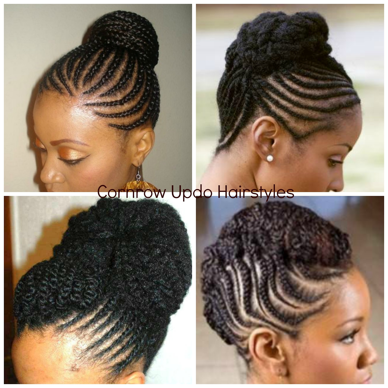 Photo: African American Cornrow Updo Hairstyles Cornrow Hairstyles Throughout Cornrow Updo Hairstyles For Black Women (View 13 of 15)