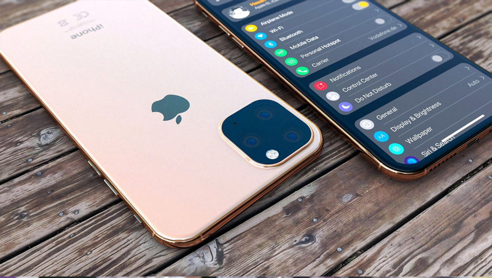 Apple's iPhone 11 might have   a squared triple lens camera system