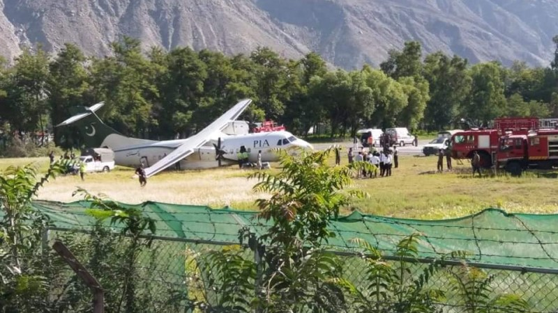 PIA plane skids off at Gilgit airport while landing