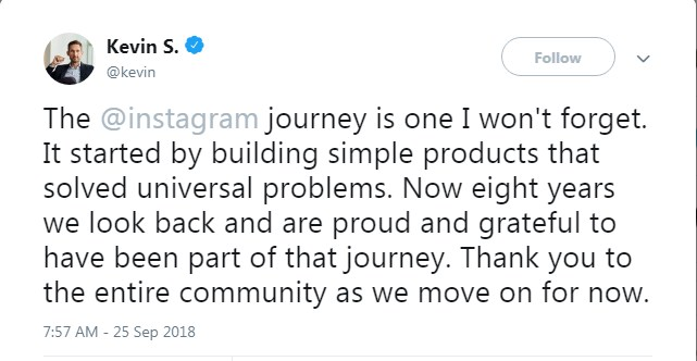 Instagram Founders Quit