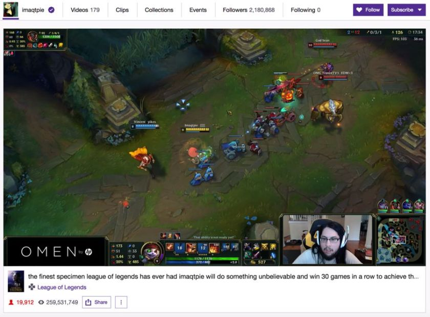 Imaqtpie Influencer