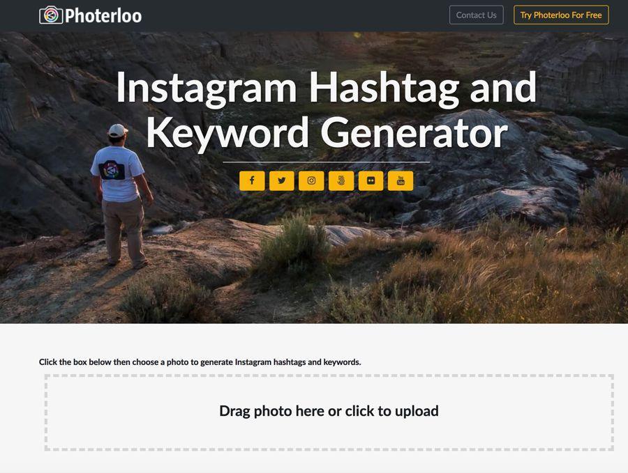 Photerloo instagram générateur de hashtag