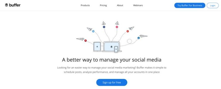 buffer social media management software