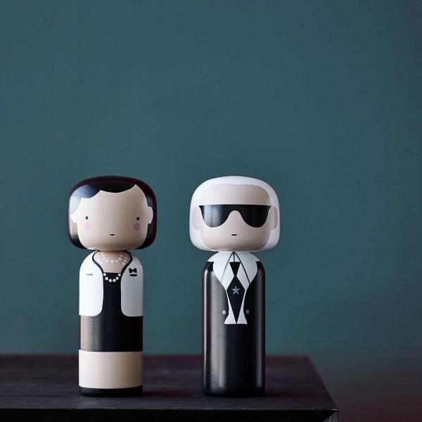 Karl lagerfeld coco chanel figurine bois lucie kaas