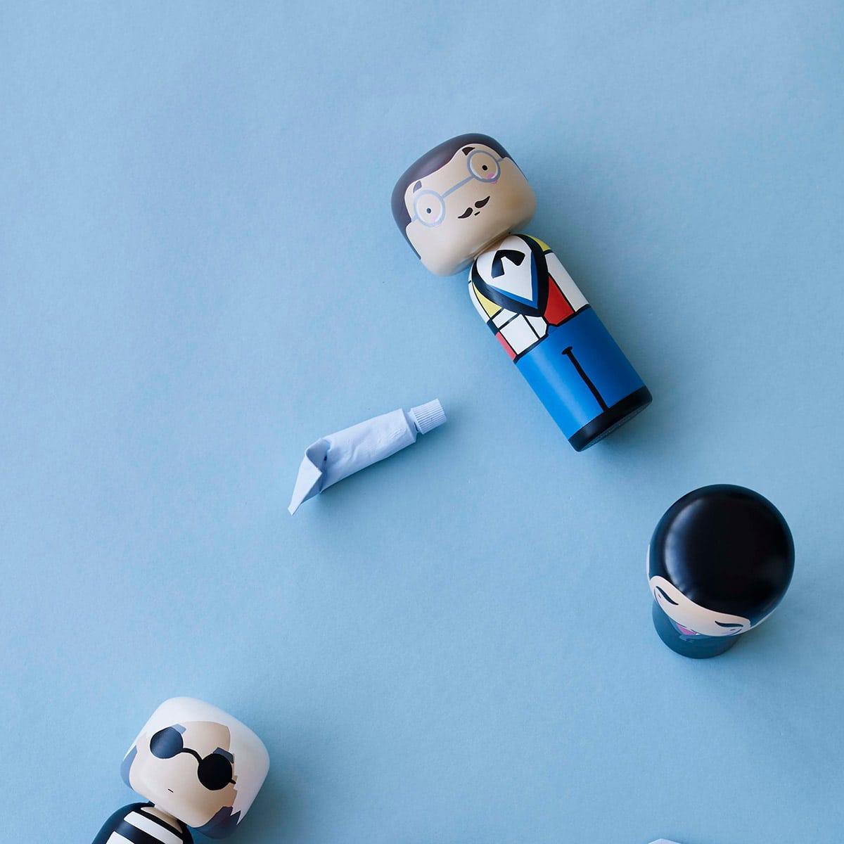 Figurine bois Piet Mondrian, Lucie Kaas