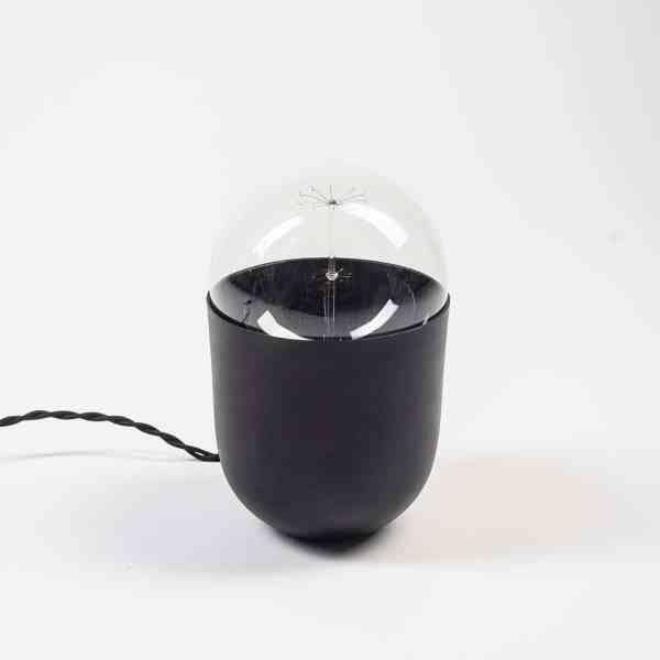 lampe à poser minimaliste Coco noir Koska