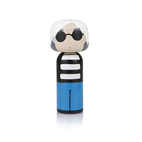 Figurine bois Andy Warhol , Lucie Kaas