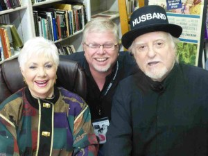 During the festival, Shirley Jones was signing books at a nearby bookstore.  Guess which one is her husband, Marty Ingels, and which one is me!