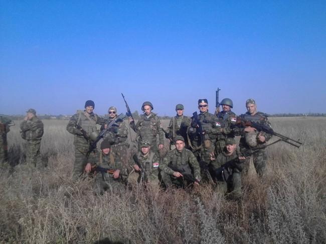 Добровольцы из Сербии в Первом Славянском батальоне ДНР