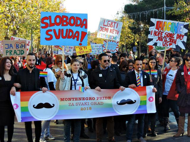 Гей-парад в Черногории накануне прошел при поддержке Запада