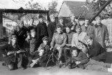 Группа югославских партизан с советскими офицерами