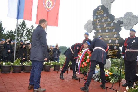 Памятник в честь бойцов жандармерии