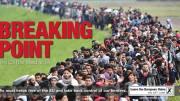 """""""Breaking Point"""", """"Belastungsgrenze"""" lautete die simple Botschaft zu einem dramatischen Bild von nach Europa flutenden Menschenmassen. Die Briten sind jedenfalls mehrheitlich der Meinung, dass die Belastungsgrenze für Einwanderung erreicht ist."""