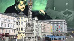Linz darf nicht Köln werden! Merkel-Einfluss abwehren. (Foto: Bildmontage info-direkt.eu / darkweasel94 [CC BY-SA 3.0 at]wikimedia commons)