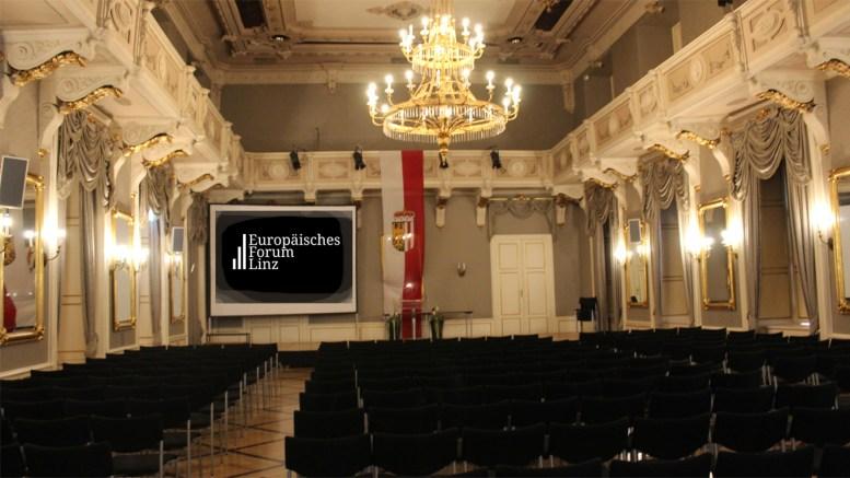 """Werden keine Gesetze gebrochen, findet in diesem Raum der Kongress der """"Verteidiger Europas"""" statt. (Foto: Europäisches Forum Linz)"""