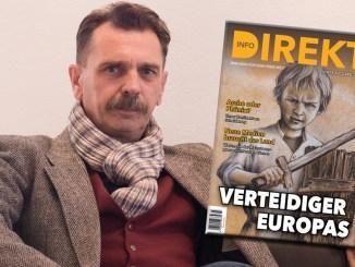 Odin Wiesinger zeichnete das Bild für die aktuelle Info-DIREKT Ausgabe