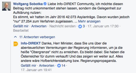 Screenshot: Info-DIREKT; Facebook