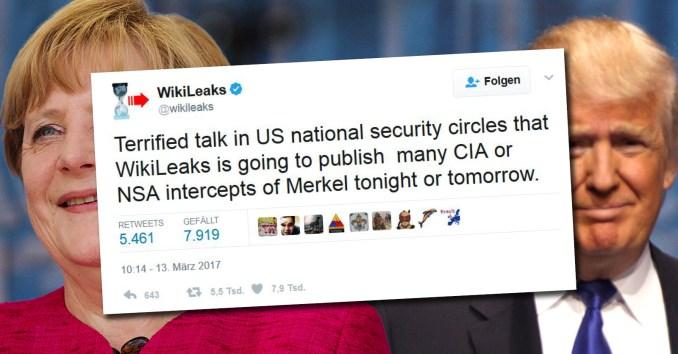 Merkel Trump Wikileaks