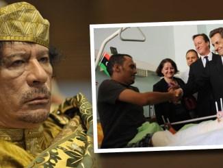 Gaddafi, Sarkozy, Cameron