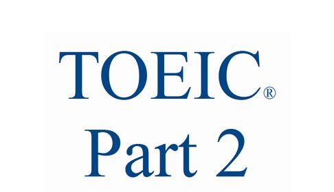 toeic part2