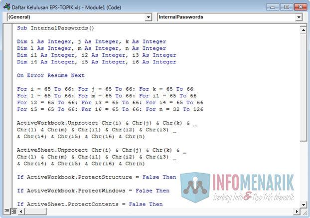 Membuka Proteksi Password Office Excel (5)