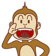 発声する猿