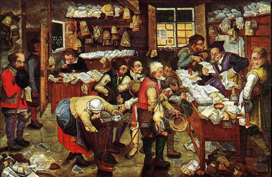 Pieter_Brueghel_the_Younger,_'Paying_the_Tax_(The_Tax_Collector)'_oil_on_panel,_1620-1640._USC_Fisher_Museum_of_Art