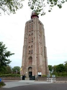 Das Backsteingebäude des Leuchtturm Westkapelle