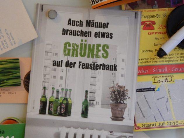 Postkarte mit Heinikenwerbung