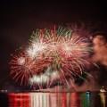 Feuerwerk über der Nordsee auf Walcheren