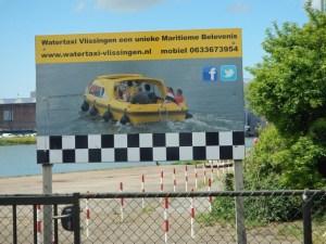 Werbeplakat zum Wassertaxi von Vlissingen