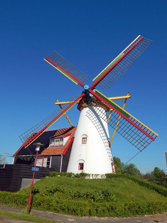 Mühle von Grijpskerke mit Wohnhaus